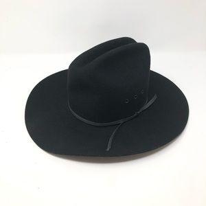 LHC BLACK COWBOY HAT Sz 6.5